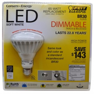 Feit Electric BR30 LED Bulb from Costco