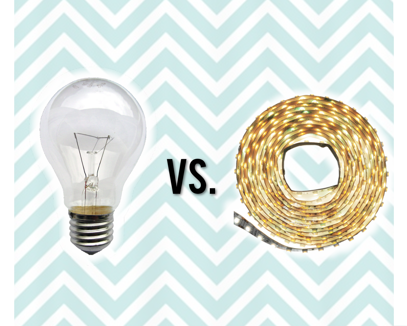 LED lights versus incandescent light bulb watts