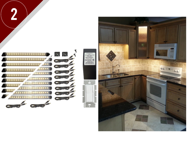 led lighting hardwire kitchen kit