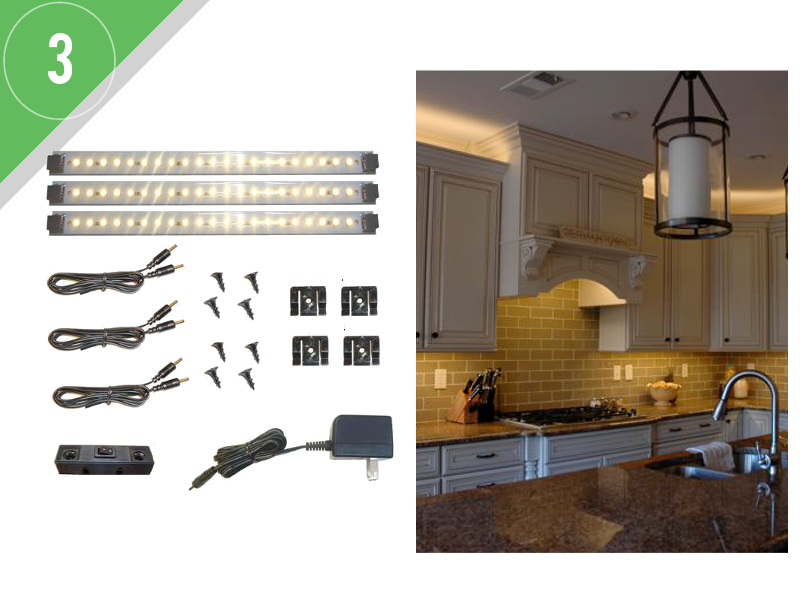 led lighting small kitchen kit