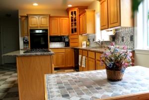 LED kitchen lighting with custom designer series panels