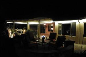 Outdoor Patio Lighting in Eves