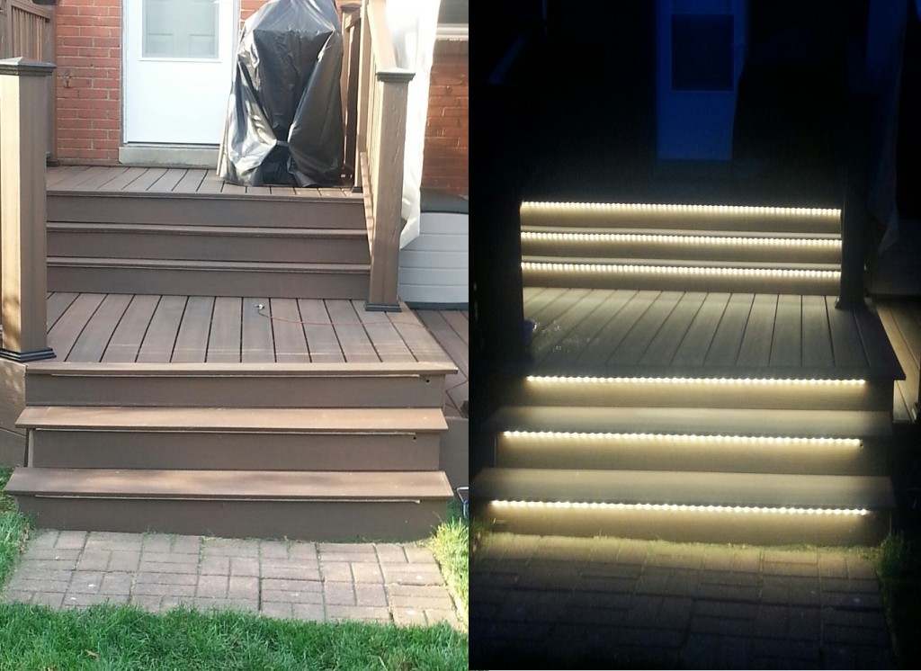 Outdoor LED Lighting Patio Staircase