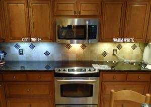 warm vs cool under cabinet lighting