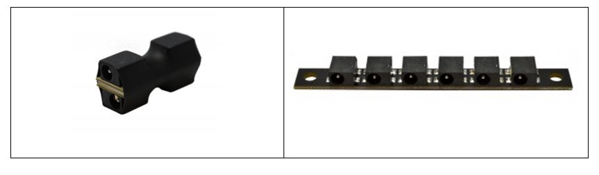 Left: Mini Distribution Block, Right: Standard Distribution Block
