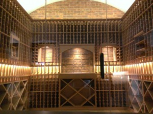 specilaty lighting traditional wine cellar