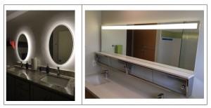 mirror bathroom lighting accent