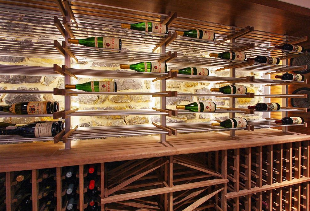 specialty lighting contemporary wine cellar