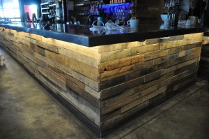 bar- wood retail lighting