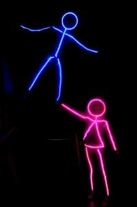 LED stick figure halloween costume