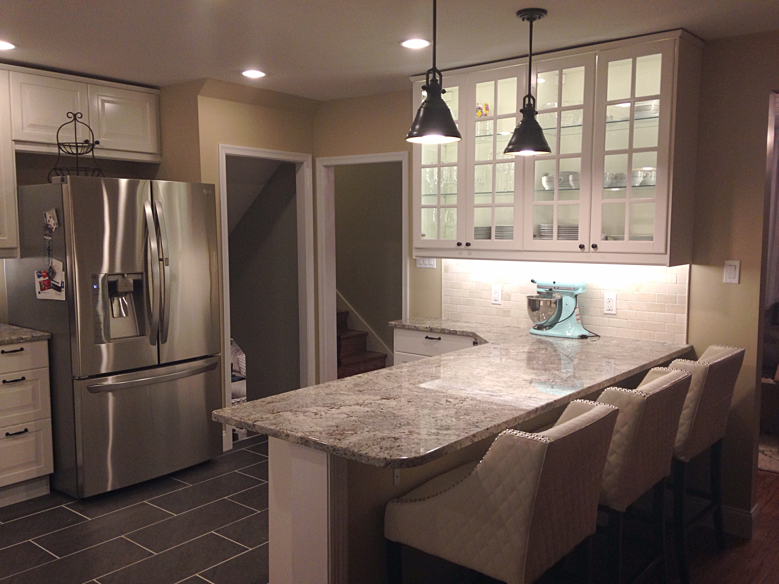 new year new you : kitchen remodel with led lighting