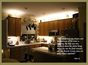 above and below cabinet kitchen led lighting