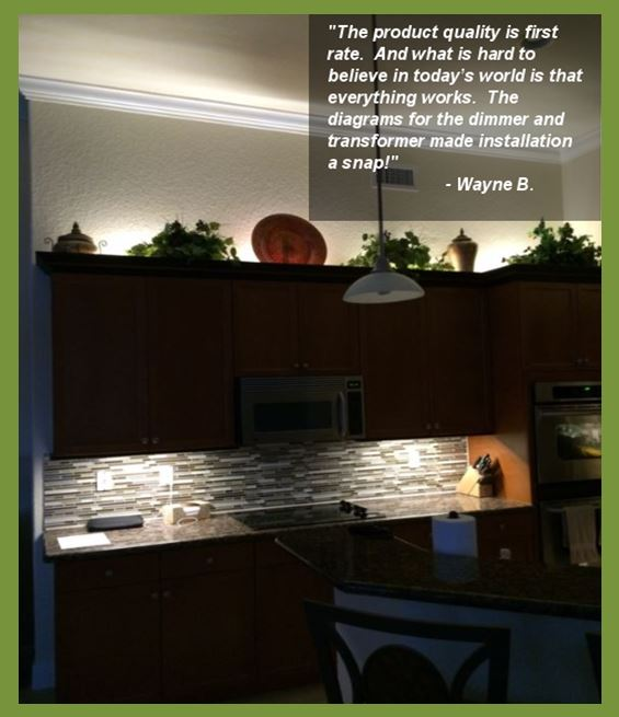 kitchen undercabinet led lighting customer feedback