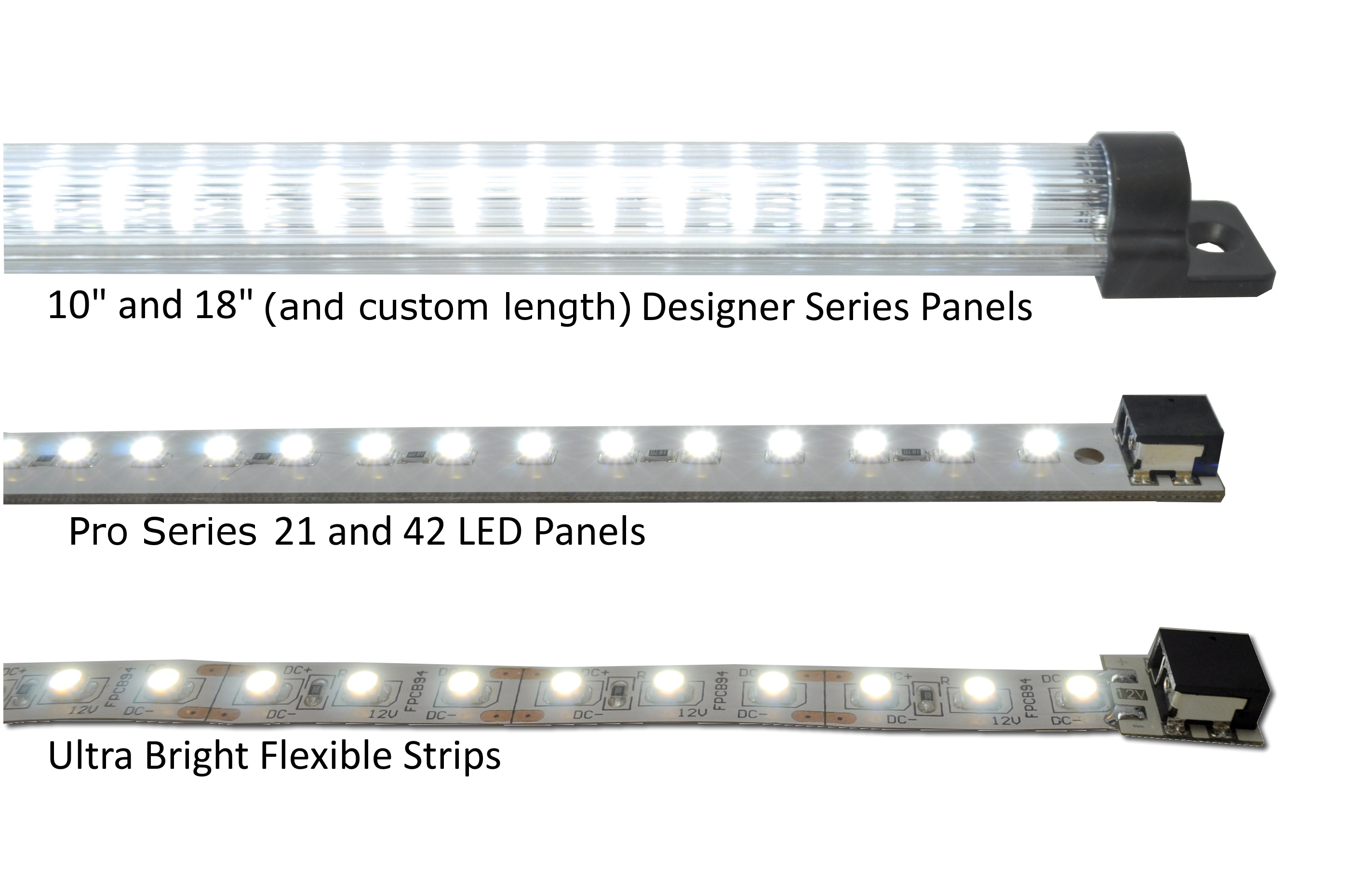 comparison of panels and flexible strips