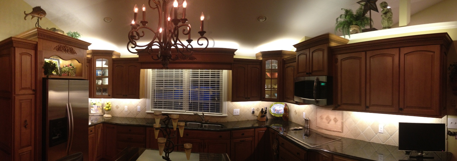 inspired led kitchen lighting for above and under cabinets