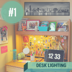 desk dorm room lighting ideas