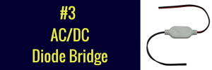 ac/dc diode bridge led
