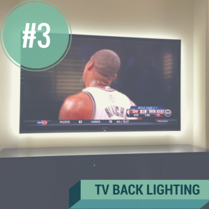 tv backlighting dorm room lighting