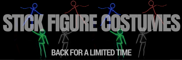 led stick figure costume kit