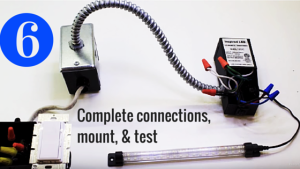 Complete connections, Mount, & Test