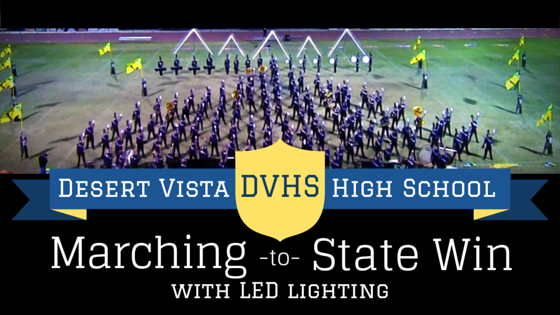 marching band LED show