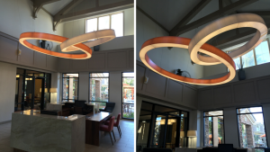 completed suspended led rings