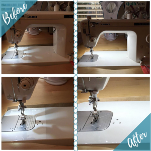 sewing machine before and after