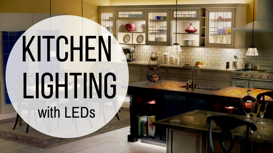 kitchen lighting with LEDs