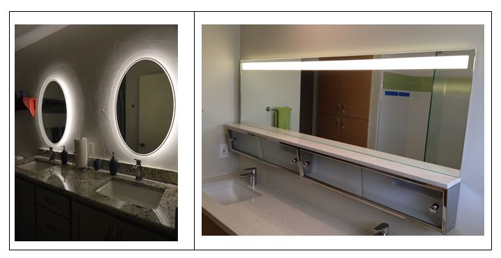 led lights behind bathroom mirror bathroom lighting inspiredled 23666