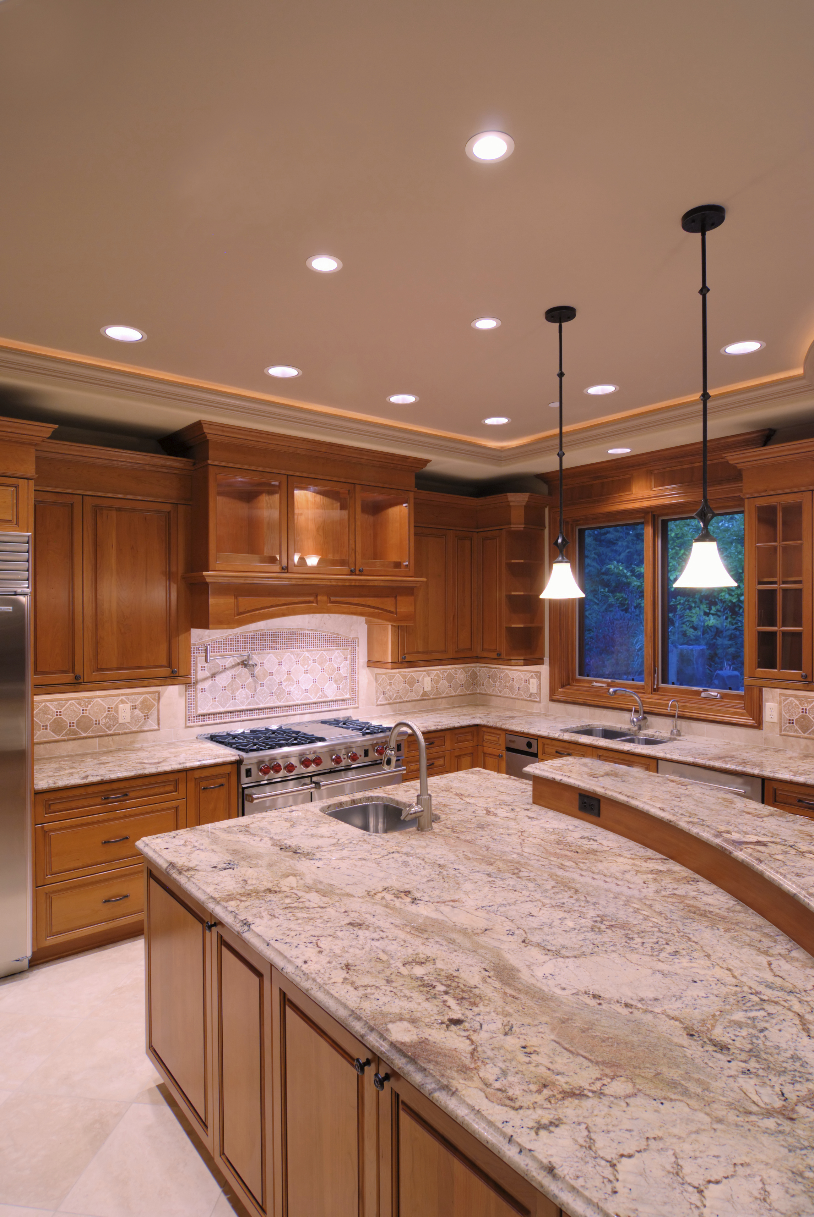 kitchen cabinets granite countertops insight series recessed can light inspiredled 6080