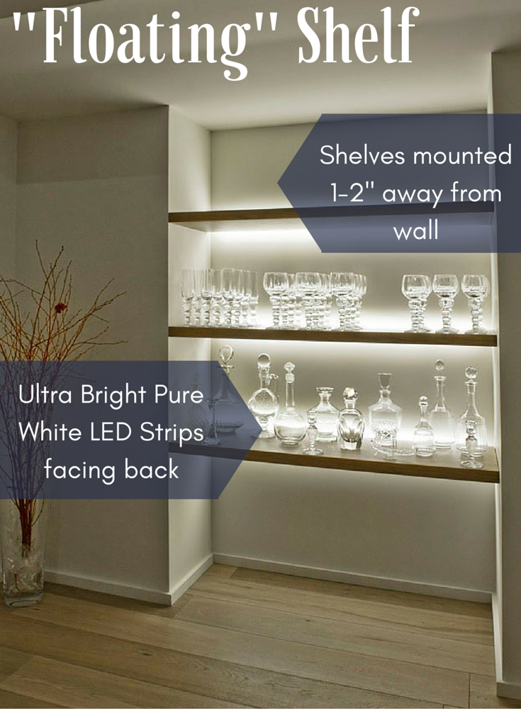 lighted floating shelves get this look the quot floating quot shelf inspiredled 6403